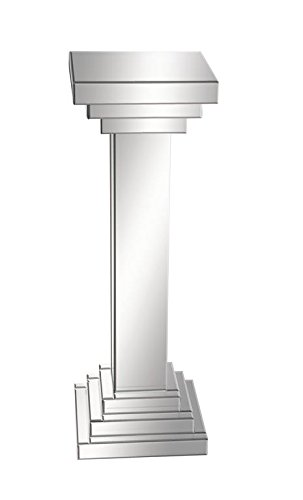 Deco 79 Wood Mirror Pedestal, 12 by 36-Inch - Mirrored Column Lamp