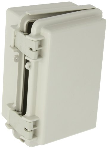 BUD Industries NBF-32004 Plastic ABS NEMA Economy Box with Solid Door, 5-57/64