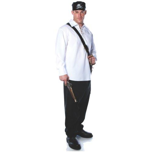 Underwraps Costumes Men's Pirate Shirt Costume, White, X-Large -