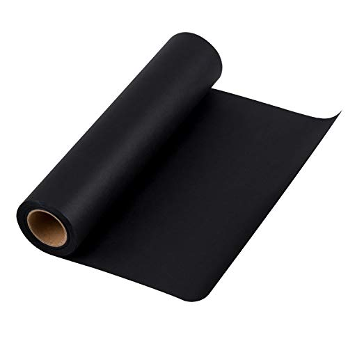 Roll Of Black Paper (RUSPEPA Black Kraft Paper Roll - 12 inch x 100 Feet - Recycled Paper Perfect for for Crafts, Art,Small Gift Wrapping, Packing, Postal, Shipping, Dunnage &)
