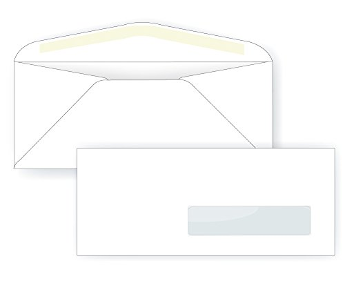 #10 Right Hand Window Envelope - 24# White (4 1/8 x 9 1/2) - Window Envelope Series (Box of 500)