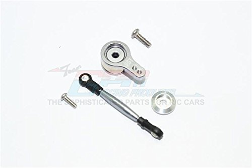 Team Losi Mini 8ight Buggy Upgrade Parts Aluminum Servo Saver With Steering Link - 1 Set Gray Silver ()