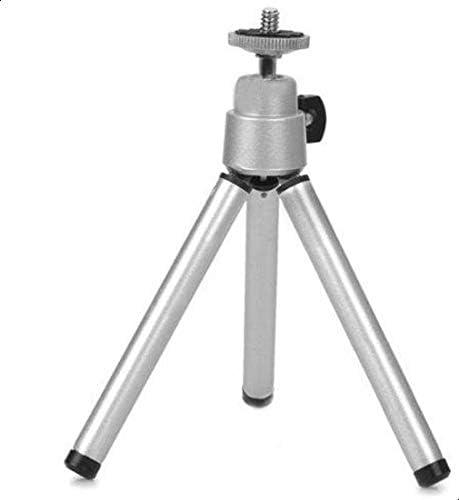 حامل ثلاثي صغير من المعدن قابل للتعديل لكاميرات جو برو هيرو 3 2 1 فضي