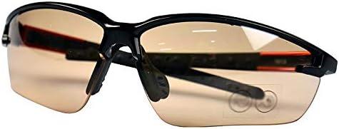 安全メガネ - ゴーグル、アンチスクラッチ、防風メガネ、アウトドアスポーツ (Color : Orange)