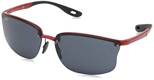 Ray-Ban Men's RB4322M Scuderia Ferrari Collection Square Sunglasses, Red/Grey, 63 ()