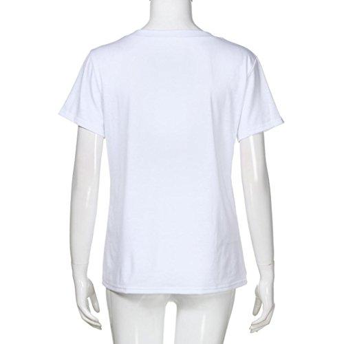SANFASHION SANFASHION Multicolor Algodón Para Shirt155 Damen Multicolor Bailarinas Mujer Bekleidung Blanco de rpxq51rw