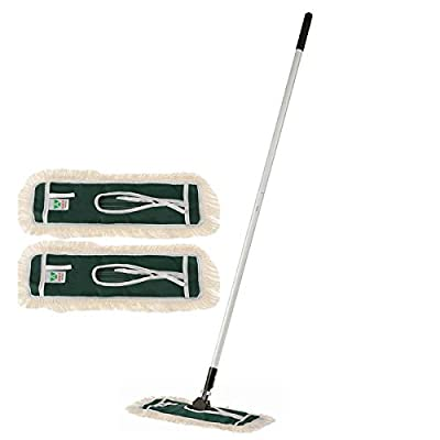KLHB-YF Microfiber Mop Spin Reusable Flat Mop With Stainless Handle,with Washable Pads-Include 2 Replaced Microfiber Mop Pads,Professional Commercial/Household Dust Mop Cleaning Hardwood, Wood, Tile,