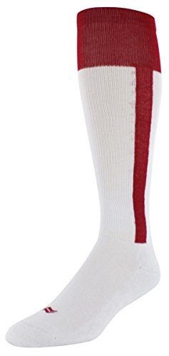Sof Sole Double Play Baseball Stirrup Team Athletic Performance Sock, Red, Youth Small 10-4.5, 2-Pack (Socks Stirrup)