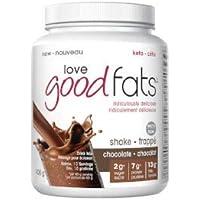 LOVE GOOD FATS Shakes, Chocolate Flavor, 400 Grams