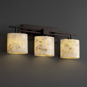 Contemporary Bathroom Design - Justice Design ALR-8703-40-MBLK Alabaster Rocks - 26