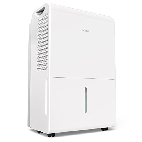 hOmeLabs 2500 Sq Ft Dehumidifier 50 Pint Energy Star Safe Mid Size Portable Dehumidifiers for Basements & Large Rooms with Fan Wheels and Drain Hose Outlet to Remove Odor & Allergens