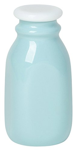 - Now Designs Ceramic Milk Bottle, Small, Turquoise