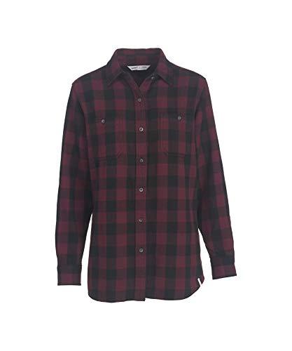 (Woolrich Women's Buffalo Check Flannel Shirt, FIG (Green), Size)