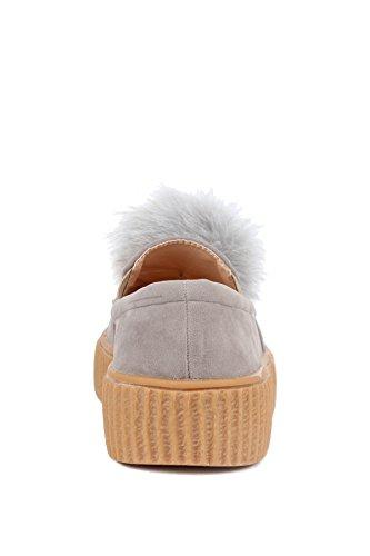 Slip Womens Hadari Hadari Sneakers Fur Womens Faux Pom Faux On Atqx0t6