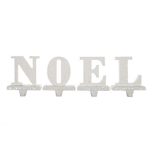 Glitzhome Christmas Metal Stocking Holder Seasonal Home Decor Noel, 5.91