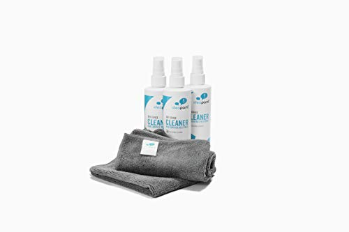 IdeaPaint Refresh Set | 3 Ideapaint Dry Erase Cleaner Spray, 8 Ounce and 2 Microfiber Cleaning Cloths (2-Packs, 4 Total) (Goddess Power Wand)