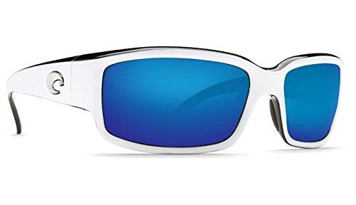 Costa del Mar Unisex-Adult Cabalitto CL 30 OBMGLP Polarized Iridium Wrap Sunglasses, White/Black, 59.2 - Mar Costa Hammock Del