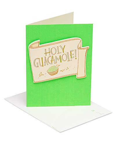 American Greetings Holy Guacamole New Baby Congratulations Greeting Card with Glitter and Flocking