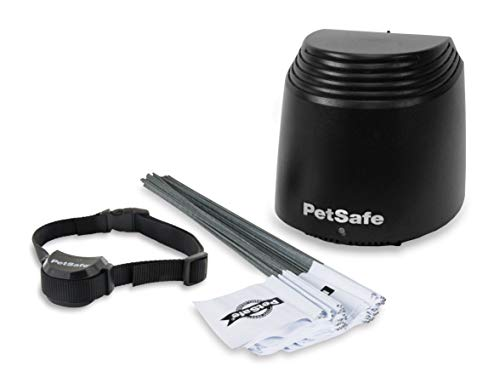 PetSafe Stay + Play Wireless Fence, Covers up to 3/4 Acre, for Dogs and Cats over 5 lb, Waterproof and Rechargeable, with Tone and Static Correction