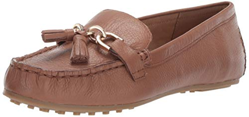 Aerosoles Women's Soft Drive Loafer, Dark tan Leather, 9 M US