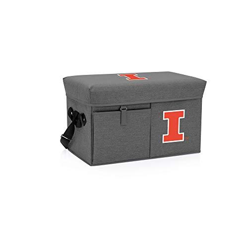 - PICNIC TIME Illinois Fighting Illini - Ottoman Cooler & Seat (Grey)