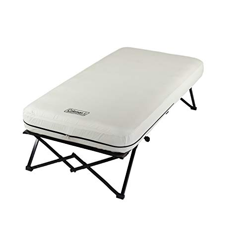 Coleman Twin Airbed Folding Cot with Side Table and 4D