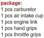 poign/ée Couleur : 34mm poign/ée NO LOGO XJB-QCKQGL 42mm Carburateur Filtre /à air Cup Moteur dacc/él/érateur Lien Fit for VTT Fit for UTV Racing Hors Route Racing 34 36 38 40