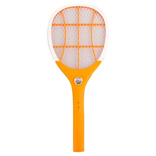 ECBYI Fly swatter Electric Mosquito Swatter Rechargeable Three-Layer Large Mesh LED Light Energy Insect Fly Bug Wasp Killer Garden Pest Control