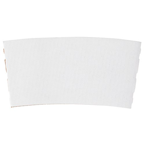 12-24 oz. White Customizable Coffee Cup Sleeve - 1500/Case by TableTop King
