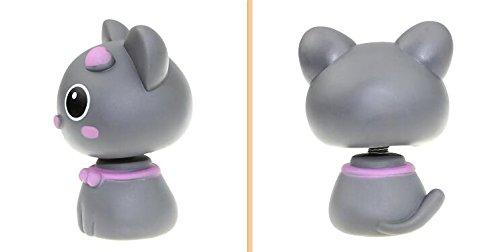 siyaful Lovely cat Bobblehead doll car ornaments gray checheyaoyao-062