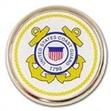 United States Coast Guard USCG Seal Gold Plated Premium Metal Auto Car Truck Emblem