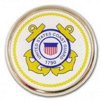 United States Coast Guard USCG Seal Gold Plated Premium Metal Auto Car Truck Emblem Guard Emblem