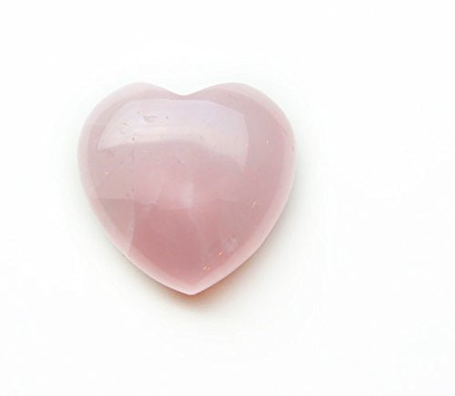 Rose Quartz Heart Shaped Carved Stone (Rose Quartz Puffed Heart)