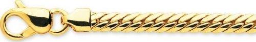 Robbez masson - Femme - Bracelet Or 9 Carats Maille Anglaise - Référence : 610022.2 - Longueur : 18 cm