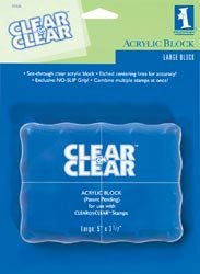 - Inkadinkado Acrylic Large Mounting Block for Clear Stamps, 3.7'' W x 5'' L