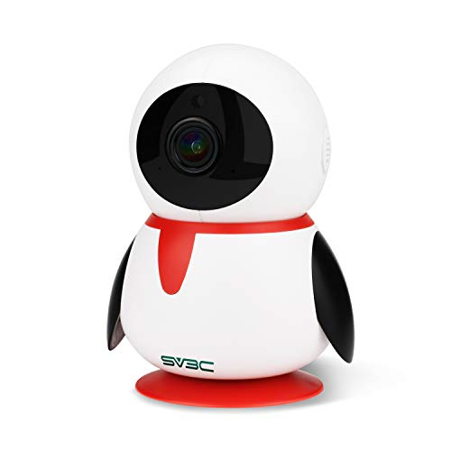 SV3C Nanny Cam, 1080P WiFi Wireless IP Camera Indoor, Video Encryption, 3D Track and Navigation, Pan/Tilt/Zoom, Two-Way Audio, Night Vision, Motion Detection, Baby/Elder/Pet Monitor