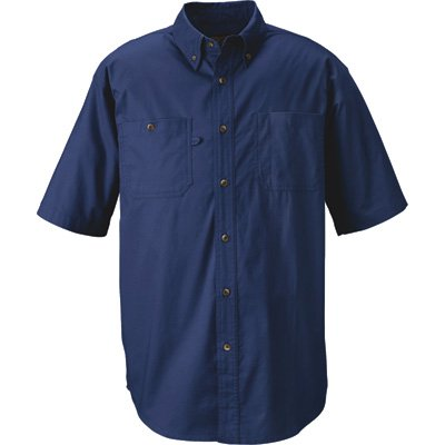 Gravel Gear Wrinkle-Free Short Sleeve Work Shirt with Teflon - Blue, Large by Gravel Gear (Image #2)