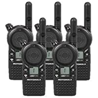 5 Pack of Motorola CLS1110 Two Way Radio Walkie Talkies (UHF)