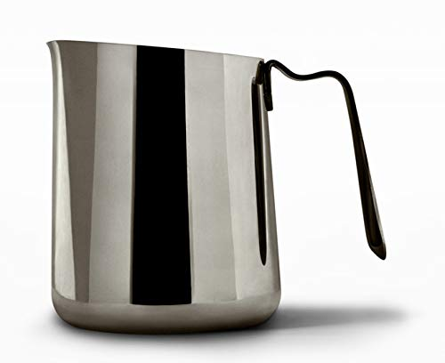 Fellow Eddy Steaming Pitcher, Milk Frothing and Precision Latte Art, Measurement Aids, Fluted Spout, Sharp Front Crease, 304 18/8 Stainless Steel - 18oz Graphite by Fellow (Image #4)