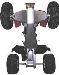 Ricochet 4-Piece Complete Aluminum Skid Plate Set Honda TRX400EX