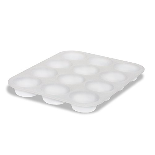 Siliconies Clear Silicone 12 Cup Muffin Pan - No Fillers, No Colorants - Dishwasher, Oven, Microwave Safe