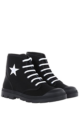 GIVENCHY-MENS-BM08383834001-BLACK-FABRIC-ANKLE-BOOTS