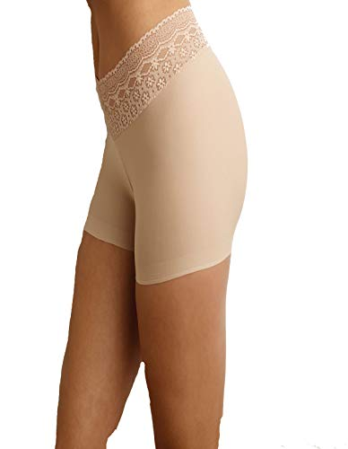 (Naomi and Nicole A166 Women's Edgies Nude Lace Boyshort A166 Large (Brand Size 7))