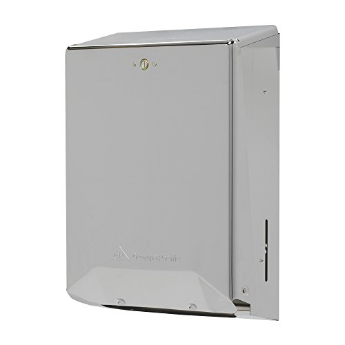 Georgia Paper Towel Holder - Georgia-Pacific 56620 Chrome Combination C-Fold/Multifold Paper Towel Dispenser, 11.25