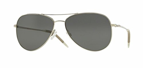 Oliver Peoples - Kannon - 1191 59 - Polarized Sunglasses (SILVER, Graphite Polar - Sunglasses Peoples Oliver Vintage