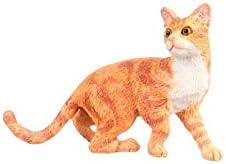 ドールハウスミニチュア猫、オレンジ