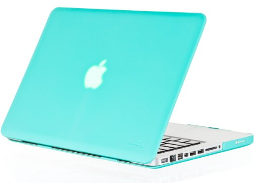 Kuzy Rubberized Plastic Case for Older MacBook Pro 15.4 (Model: A1286) with DVD Drive Glossy Display Matte Cover - TEAL BLUE