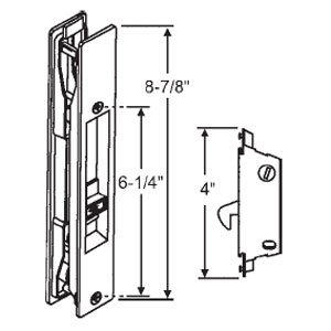 STB Sliding Glass Patio Door Handle Set Flush Mount Non