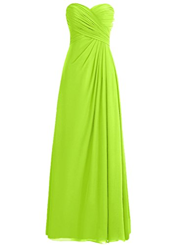 H.S.D Adult Slack Pleated Decoration Wedding Guest Dress Lime Green