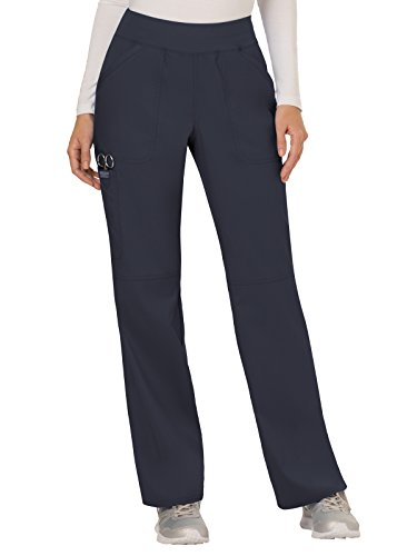 Ww Revolution By Cherokee Womens Mid Rise Straight Leg Pull On Pant  Pewter  M